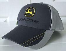 John Deere Gray & Charcoal Construction Boundaries Fabric Hat Cap Adjustable