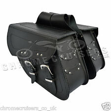 MOTORCYCLE LEATHER SADDLEBAGS PANNIERS HARLEY DAVIDSON SPORTSTER XL883 1200 C13A