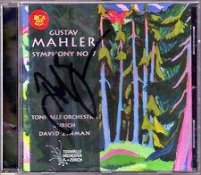 David Zinman firmato MAHLER SYMPHONY NO. 7 Filarmonica CD Tonhalle Orchestra ZURICH
