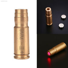 9mm Red Brass Copper Bullet Shaped Laser Bore Sighter Hunting Sight For Gun