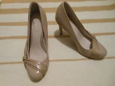LADIES Stunning FAITH cream beige shoes with knot Heels Size 4