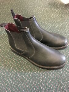 Size 9 Black Leather Jodhpur/Dealer Boots with manmade sole REDUCED