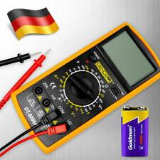 DT-9205A LCD Digital Multimeter DC AC 20A Kapazität hFe OHM A V inkl 9V Batterie