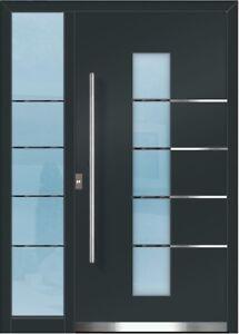 flügelüberdeckend ALUMINIUM Alu Haustür Haustüren Tür V 920 4a 02 mit Seitenteil