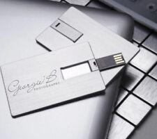 Customed DIY words logo metal card USB 2.0 Flash pen Drive Memory + metal Box