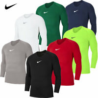 Nike Mens T-Shirt Long Sleeve Park Football Jersey Training Compression Top