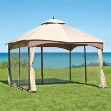 Rugged Outdoor 10' x 12' Double Roof Gazebo Tent w/ Steel Frame & Mosquito Net