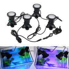 More details for led rgb pond spot lights 1 set 4 underwater aquarium garden fountain lamp+remote