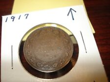 1917 - Canadian penny - Canada one cent - circulated