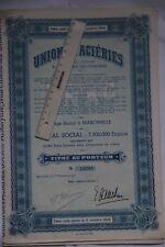 Marcinelle-lez-Charleroi 6001 Union des aciéries action de 1950