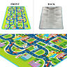 Children's Road Map Puzzle Play Mat Rug Runner Race Car Home Nursery 160x130cm