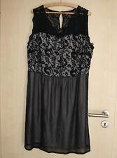 BodyFlirt | Schwarzes Kleid mit Spitze und Hautfarbenem Unterrock | Gr. 48/50