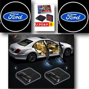 2 Pc Wireless Magnetic Courtesy Car Door  Logo Light Shadow Projector For FORD