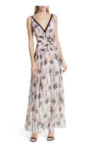NWT $695 Jason Wu Poppy Silk Maxi Dress Size 4