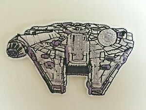 Star wars Millennium Falcon Embroidered Iron On / Sew On Patches Badges