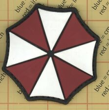 PVC UMBRELLA RESIDENT EVIL patch Raccoon Logo Corp Police Paintball Insignia