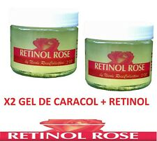 X2 GEL CARACOL  RETINOL manchas estrias snail cream baba de crema Karakol Kream
