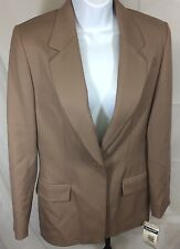 $198 NWT Pendleton Women's Tan Lighweight 100% Virgin Wool Blazer Size 4