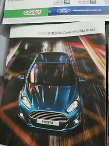 FORD FIESTA OWNERS PACK / HANDBOOK / MANUAL WITH WALLET 2015/2014