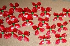25 RARE Holly Poinsettia Light Bulbs for Ceramic Christmas Tree Red Green