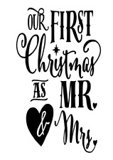 Our First Christmas Vinyl Decal Sticker for Wine Bottle Craft Glass
