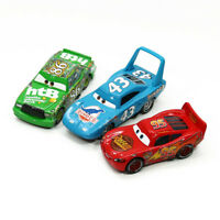 3-Pack Mattel Disney Pixar Cars King Lightning McQueen Chick Hicks 1:55 Diecast