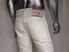 NEW Auth TRUE RELIGION DUPE SUPER T White #1 Men`s Jeans Sz 32 x 33.5