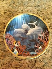 "1994 Lenox ""Sea of Dreams"" Plate Collection: ""Let's Play"" Ltd.Ed, Dolphins!"