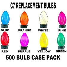 Case 500 C7 Light Bulbs Incandescent Ceramic Christmas Lights Party Lights