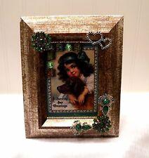 "Framed Jewelry  Postcard  ""St. Patrick's Delight "" -   Flower Arrangement"