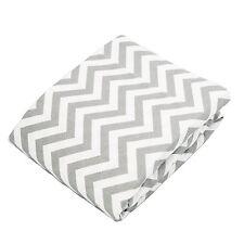 Kushies Baby Fitted Change Pad Sheet, Grey Chevron