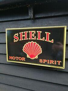 Shell Enamel Sign shell motor spirit sign motor oil petrol pump garage sign gas