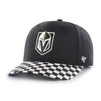 '47 Las Vegas Golden Knights NHL Black Check Up MVP DP Hockey Adjustable Cap Hat