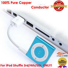 2-Pack White USB Power Charger Sync Data Transfer Cable for iPod Shuffle 3rd 4th