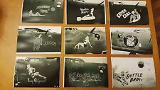 WWII PHOTO LOT OF 70 PHOTOS 8TH USAAF B-24 LIBERATOR NOSE ART CLOSE UPS BOMBERS