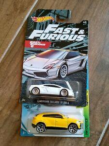 New - Hot Wheels Fast & Furious Lamborghini Gallardo & Urus (lot of 2)