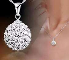 Unbranded Silver Plated Rhinestone Fashion Necklaces & Pendants