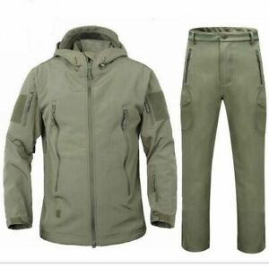 Men's Casual Winter Jacket Army Camouflage Coat Waterproof Windproof Clothes Set