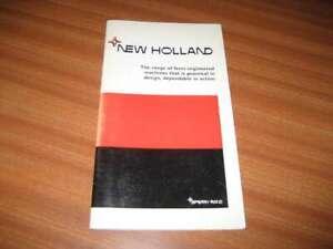 ORIGINAL NEW HOLLAND BROCHURE CATALOGUE INC COMBINE HARVESTERS APPEARS 1960's