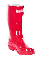 New Women's Glossy Rain Boots Garden Boots Wellies Brand New Sizes 6-10