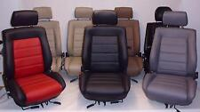 VW Golf 3 Cabrio en cuir synthétique housses sièges avant u. Arrière Noir (en couleur parcourue) A