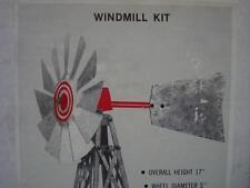 NOS 17'' Tall Galvanized Steel Windmill Model Kit - Railroad (?)