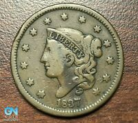 1837 Coronet Head Large Cent   --  MAKE US AN OFFER!  #P4725