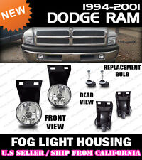 1994-2001 Dodge RAM 1500 Pick Up Truck Fog Lights Housings Replacement (PAIR)