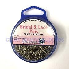 702 weddings ebay hemline 1 25mm bridal lace pins approx 300 pins junglespirit Gallery