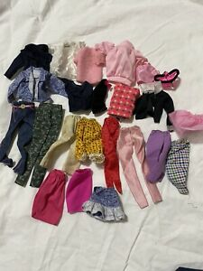 Barbie lot of used clothes #1 - skirts, pants jackets, tops, etc