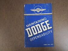 Auto Glove Box Manual  1939 Dodge