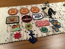 (14) LOT VINTAGE  ?   IRON ON PATCHES