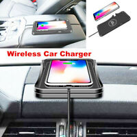 2in1 10W Qi Wireless Fast Charger Charging Pad GPS Holder For Samsung iPhone X
