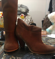 Michael Kors Lucille Brown Suede Calf  Slouch Boots Womens Sz 7.5